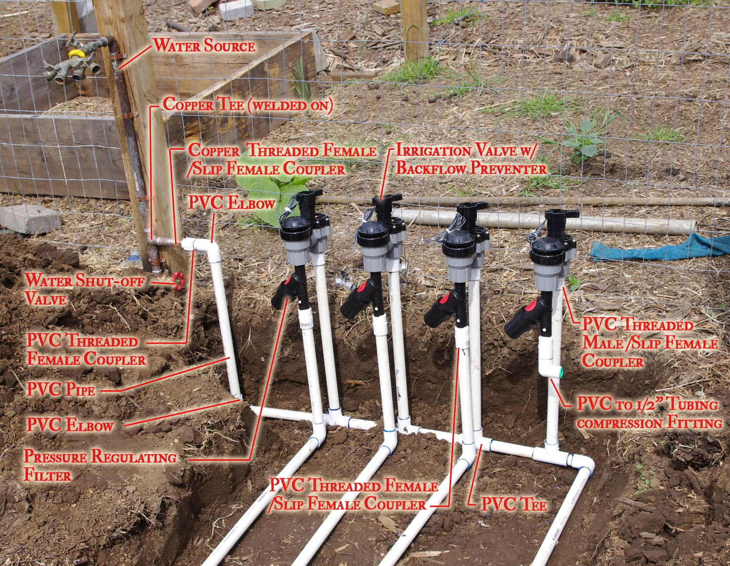 Picking the right irrigation system and installing it dog island farm - How to design an irrigation system at home ...